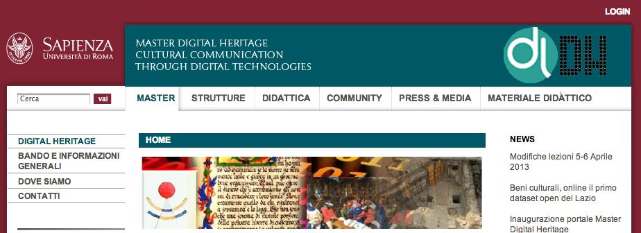 2013 / Master Digital Heritage