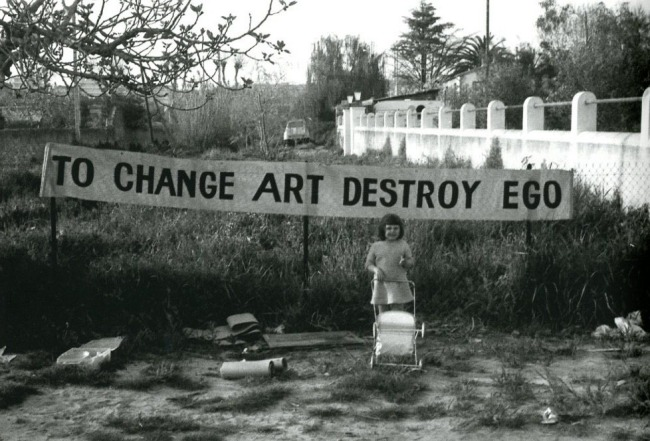 To Change Art Destroy Ego (1965) by Ben Vautier