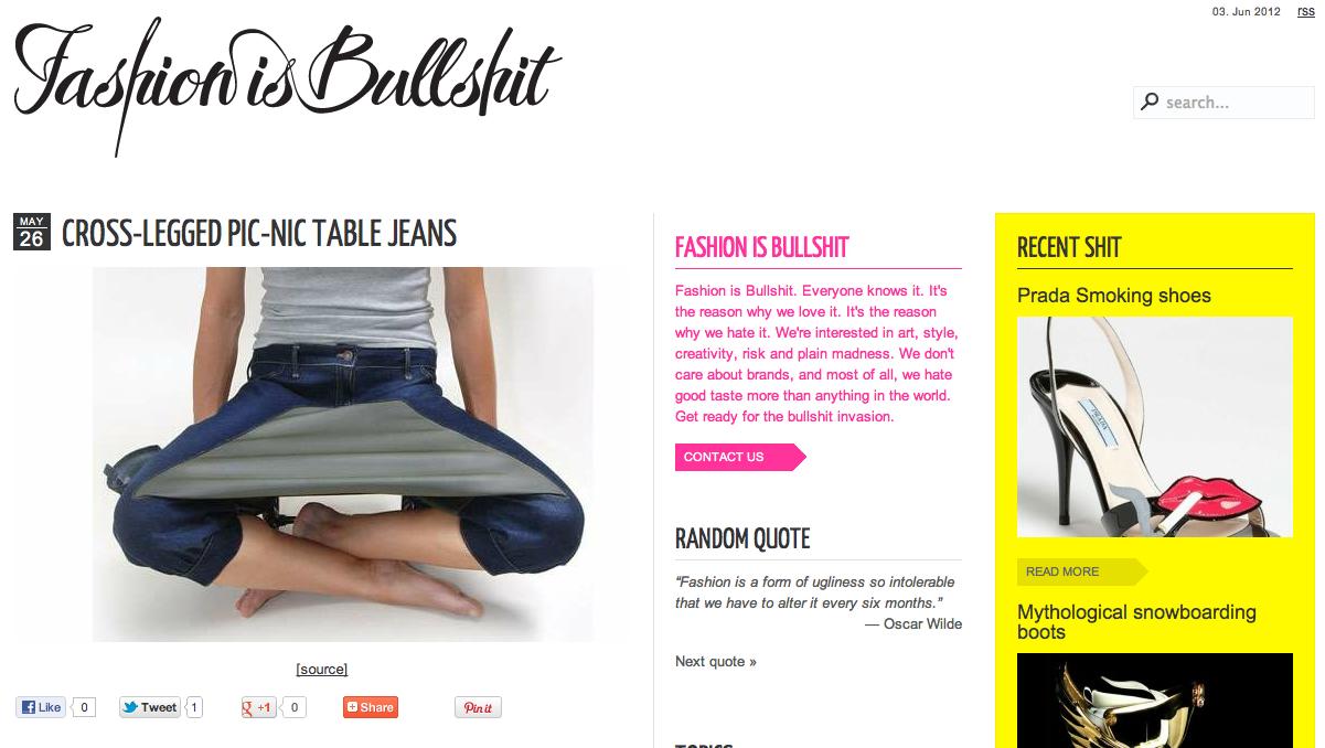 2011 – 2014 / Fashion is Bullshit