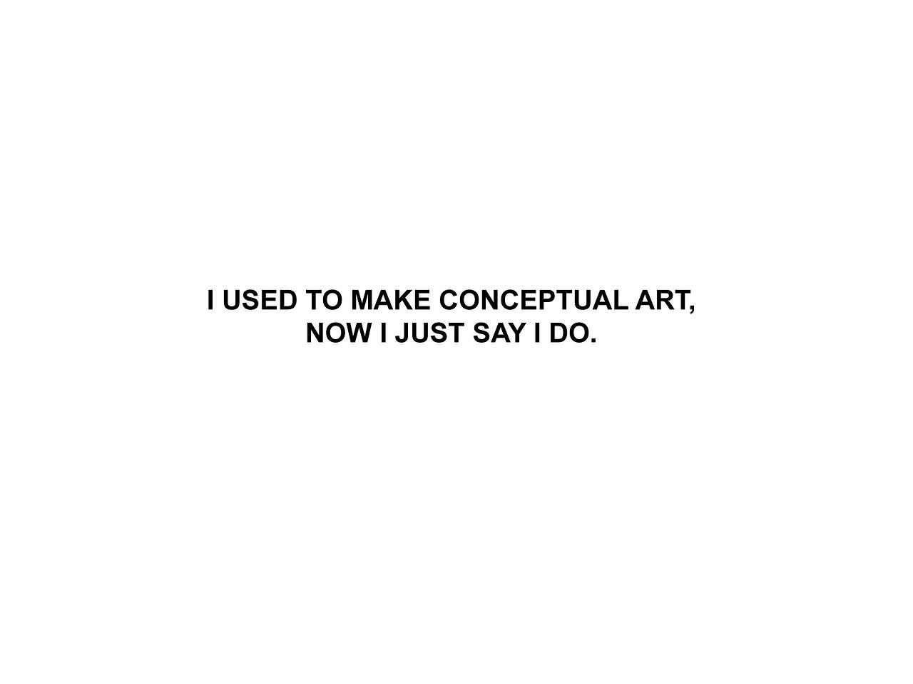 I just say I do