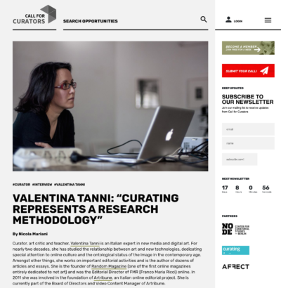 2019 / Curating represents a research methodology. Call for Curators